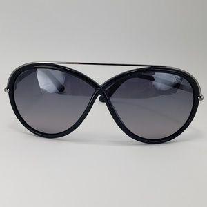 Tom Ford Butterful Glasses Silver Black Frame
